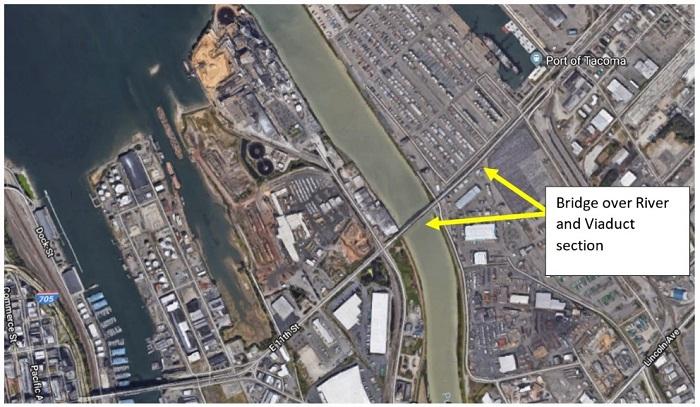 Map of 11th St Bridge