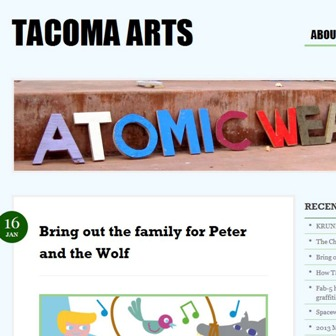 go to Tacoma Arts blog