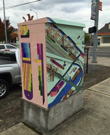 Traffic Box Wrap design by Tim + April