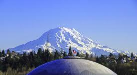 Mt. Rainier and Tacoma Dome