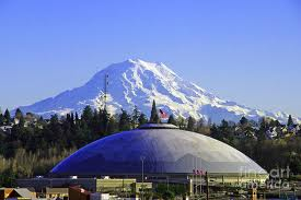 Mount Rainier and Tacoma Dome picture