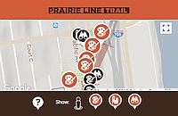 Take a walk into history along the Prairie Line Trail.