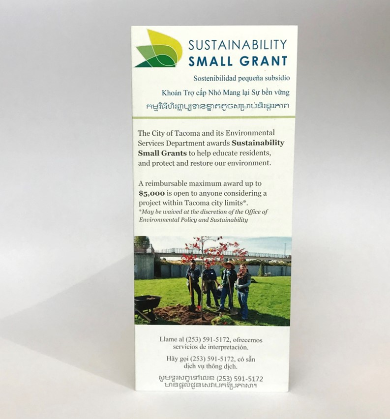 Sustainability Small Grant Brochure