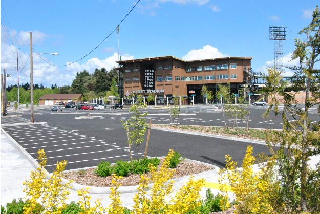 Cheney Stadium Green Parkinglot