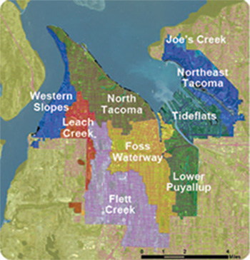 Image of the Tacoma Watersheds