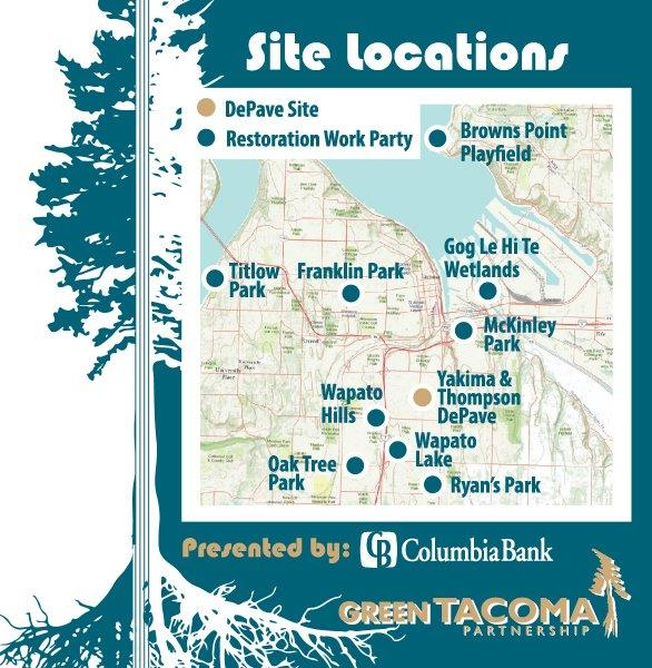 Green Tacoma Day Locations