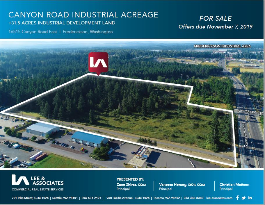 16515 - 16525 Canyon Road East, Frederickson area, WA