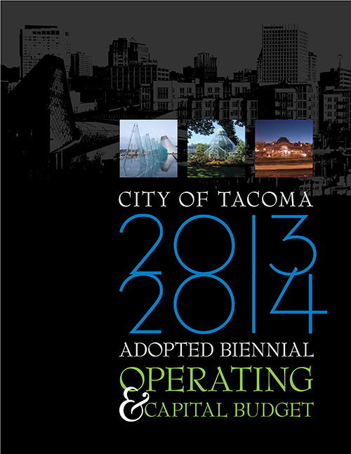 2013-2014 Adopted Biennial Budget Book Cover