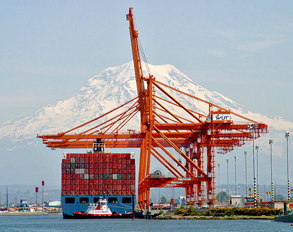 Image of the Tacoma Port Container