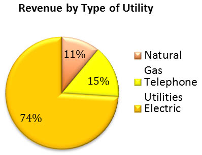 Revenue by type of utility chart