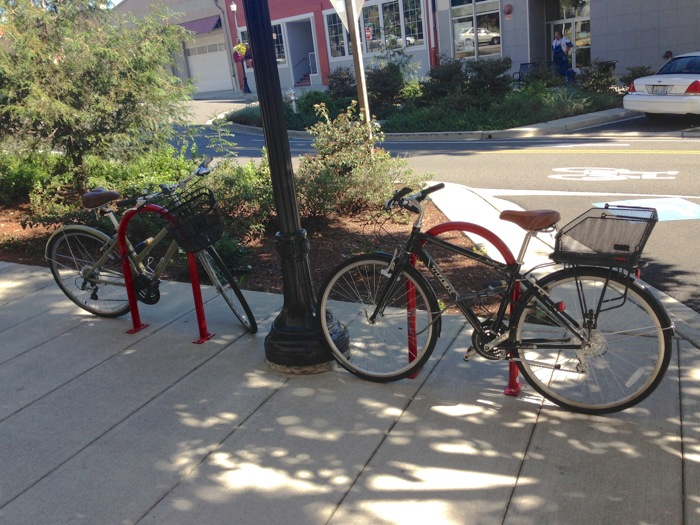 Image of a bike rack in the City of Tacoma